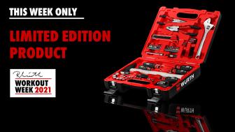Lansering av Reinhold Würth Limited Edition, verktygsväska i 50 delar - säljs till förmån för välgörande ändamål