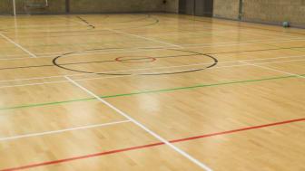 An empty netball court
