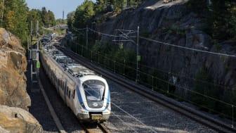 Under 2020 har Stockholms pendeltåg varit punktligare än någonsin. Fotograf: Viktor Fremling