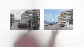 Lawrence Abu Hamdan and Bassel Abi Chahine, Shot Twice (By the Same Bullet), 2021. Installation detail.