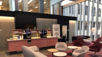 Sweden's Nordea Bank has installed a unique water hydration station from Bluewater to provide staff and visitors at its central Stockholm office purified water free-of-charge