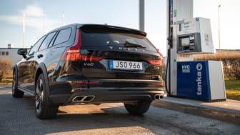 Fritt fram att tanka HVO100 i dagens Volvobilar