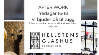 Hellstens Glashus bjuder alla AW-gäster på tilltugg varje fredag
