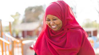 Fadumo Dahir Igal, cirkelledare på Älskade Barn. Bild: Lisa Löwenborg