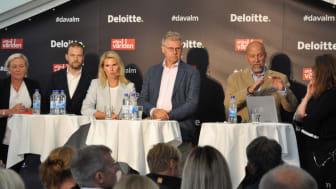 Sofia Brax HR- och hållbarhetschef Collector Bank, Andreas Näsvik partner och Sverigechef Nordic Capital, Erika Eliasson Chief Strategic Communications Officer på Lendify, Klas Eklund ekonom och Olof Manner senior rådgivare Affärsvärlden.