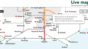 The Live Map function is now a permanent fixture on Southern's website, following a successful trial