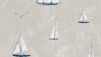 Wallpaper Scandinavia 10x0,53 m Sailboat Beige Non-woven