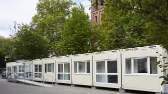 Die perfekte Alternative zum Zelt: Mobile Sanitätsstationen von Algeco bieten Ärzten und Patienten den Komfort, den sie in konventionell errichteten Gebäuden gewohnt sind.