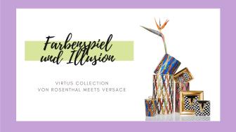Die Virtus Collection zeigt eine elegante Mischung aus barocken Symbolen und illusionistischen Reliefs.