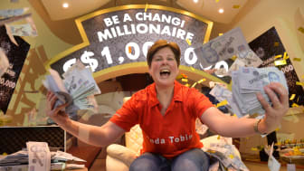 Changi Airport crowns 52-year-old Irishwoman as its newest millionaire!
