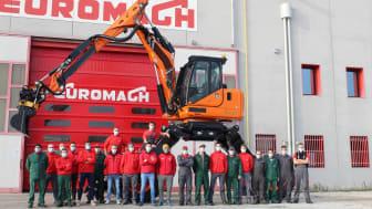 Euromach R145 med Engcon tiltrotator
