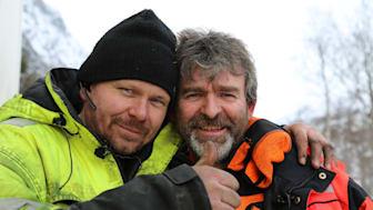 """Thord Paulsen og Bjørn Lærgreid er tilbage i fjerde sæson af """"Vintervejens helte"""". (Foto: National Geographic)"""