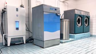 I ett första skede testas lösningen i fastigheten Stampen i Göteborg och hyresgästerna använder tvättmaskinen precis som vanligt.