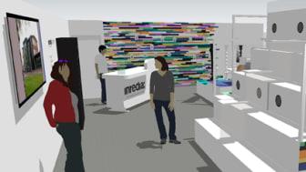 Upplev mötes- och utvecklingsarenan Inredia och Material ConneXion i monter B04:10 på Stockholm Furniture Fair