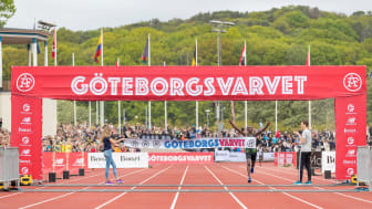 ​Gichia and Kimining winners of the 40th Göteborgsvarvet Half Marathon