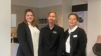 Delägarna Carola Stenmark och Marcus Abrahamsson och kundrådgivare Helena Larsson  på Gällivare Begravningsbyrå AB