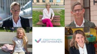 Från vänster i bild: Torleif Falk, Kristina Alvendal, Peter Skogh, Ingrid Forssell och Kajsa Medin Hansen.