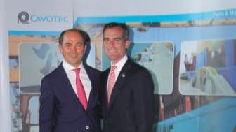Cavotec CEO Ottonel Popesco and LA Mayor Eric Garcetti at PortTechEXPO