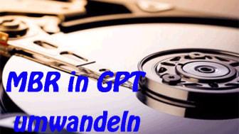 MBR in GPT umwandeln