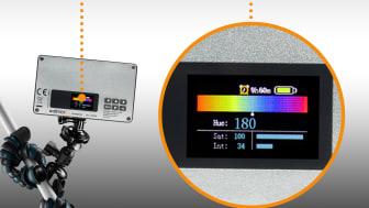 Walimex pro Rainbow Pocket RGBWW 23036 19 Display