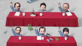 """Tang Zhigang: """"Children in meeting"""" (2001)"""