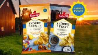 Estrellas Skördefest 2021 i smakerna Kantarell, Vitlök & Chili och Nymalen Svartpeppar & Gräddfil