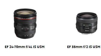 Canon lanserar nya objektiv: EF 24-70mm f/4L IS USM och EF 35mm f/2 IS USM