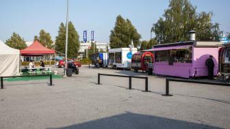 Bild på Food trucks som är en del av alla berättelser som finns med i Kungens kurva stories. Foto: Elisabeth Boogh