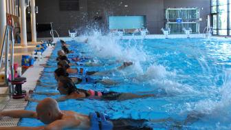 Sundstabadet redo för Sveriges största mötesplats för vattenträning