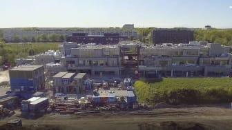 Byggeriet af H.C. Ørsted Gymnasiet i Lyngby