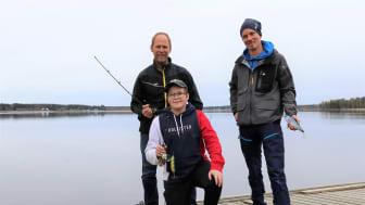 William Berg, initiativtagare tillsamman med Jan Öhlund, Piteå kommun och Tobias Hellman från Sportfiskarna. Foto: Stina Eriksson