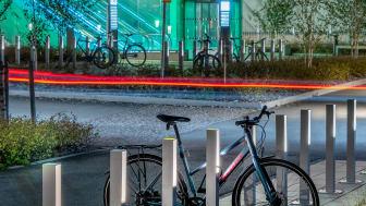 Blenda pollare med LED-blysning, Blenda Design. Tomteboda Stockholm