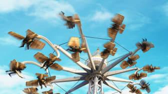 Pröva vingarna i AreoSpin på Liseberg