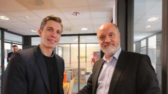 Johan Roos, Affärsutvecklingschef på LRF Konsult och Stein-Ragnar Noreng, vd på TheVIT.
