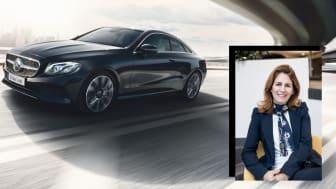 Karin Stålhandske, märkeschef för Mercedes-Benz på Upplands Motor.