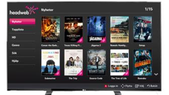 Tusentals filmer hos Headweb när ny app för LG Smart TV lanseras