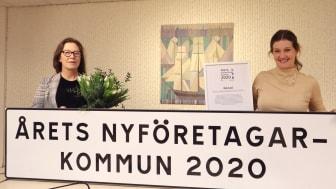 Charlotte Rosenlund Sjövall, kommundirektör i Båstads kommun, och Karin Bengtsson, VD på Båstad Turism & Näringsliv. Foto: Båstads kommun