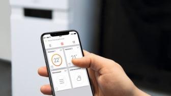 Appen ViCare som tillsammans med Vitoconnect blir en del av ett smart hem
