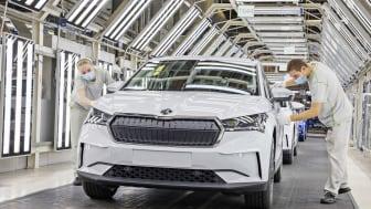 Nu startar serieproduktionen av ENYAQ iV vid ŠKODA AUTOs fabrik i Mladá Boleslav