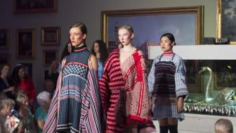 Work by Northumbria University Fashion BA (Hons) graduates on display at Bowes Museum