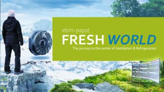 Inbjudan att medverka på ebm-papst online event FRESH WORLD.