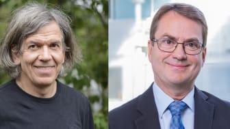 Daglig leder Jonny Pedersen i Pecom (t.v.) og divisjonsdirektør Sten-Ole Nilsen i Norconsult