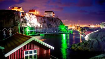 """På lysfestivalen """"Island of Lights"""" spredes lys på alle måder på øen Smögen på Sveriges vestkyst fra den 12. - 15. september. Foto: Asaf Kliger"""