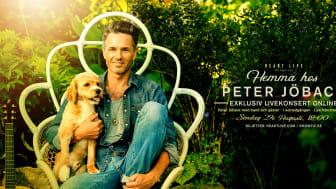 Peter Jöback - Exklusiv livekonsert online från Peters trädgård