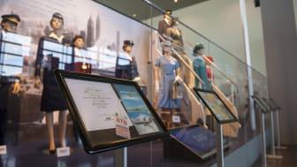 """Utställningen """"Retro och uniformer genom tiderna"""" på Arlanda"""