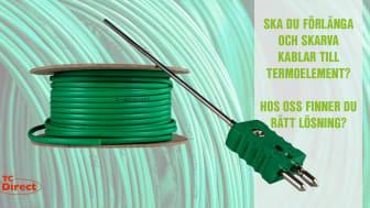 Om du har behov av att förlänga och skarva kablar till termoelement så har vi med all säkerhet rätt lösning!