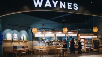 Waynes nya kafé i Torp Köpcentrum