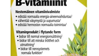 Energiaa syksyyn tuo uutuustuote Salus B-vitamiinit