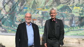 v.l.n.r. Peter Feuz, Präsident des Verwaltungsrates Schilthornbahn AG und Christoph Egger, Direktor Schilthornbahn AG