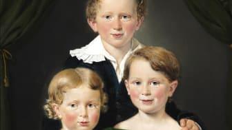 C.A. Jensen: Hans og Bolette Puggaards tre børn. Sign. C.A. Jensen 1827. Olie på lærred. 82×64 cm. Hammerslag: 1,3 mio. kr. Vurdering: 400.000-600.000 kr.
